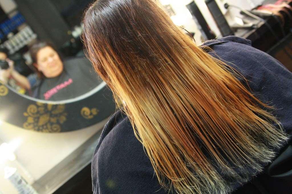 grönt hår