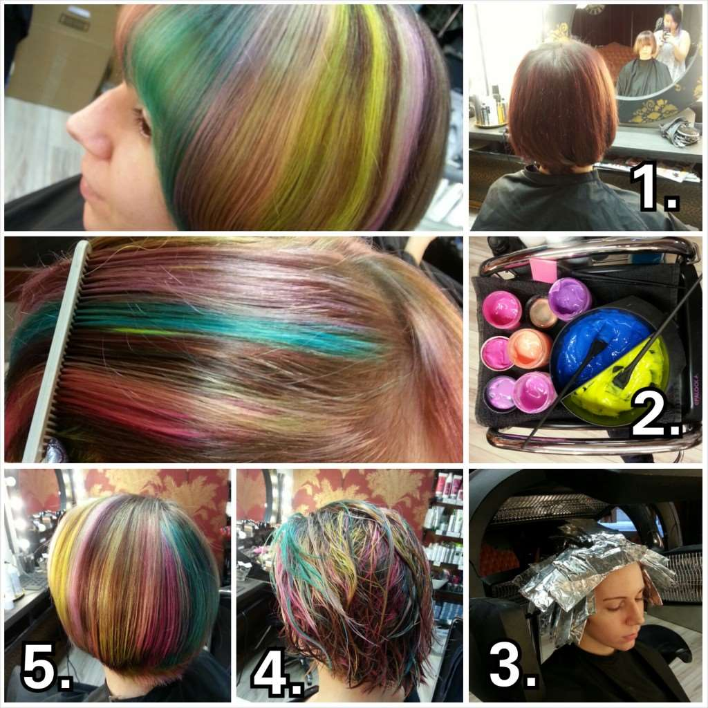 crazy color creative hair