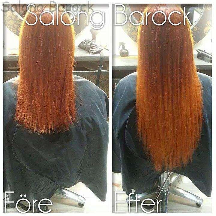 orange ombre extensions