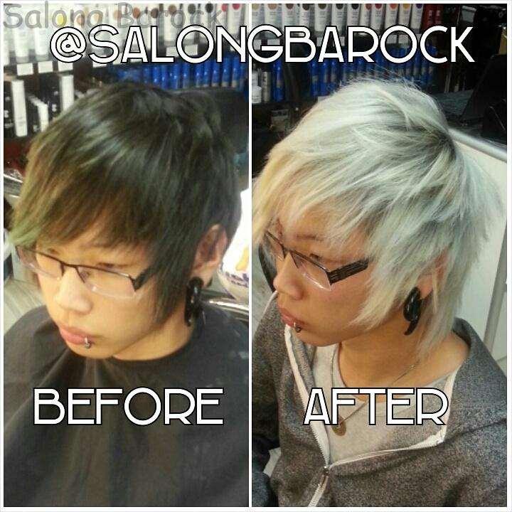 black to white hair