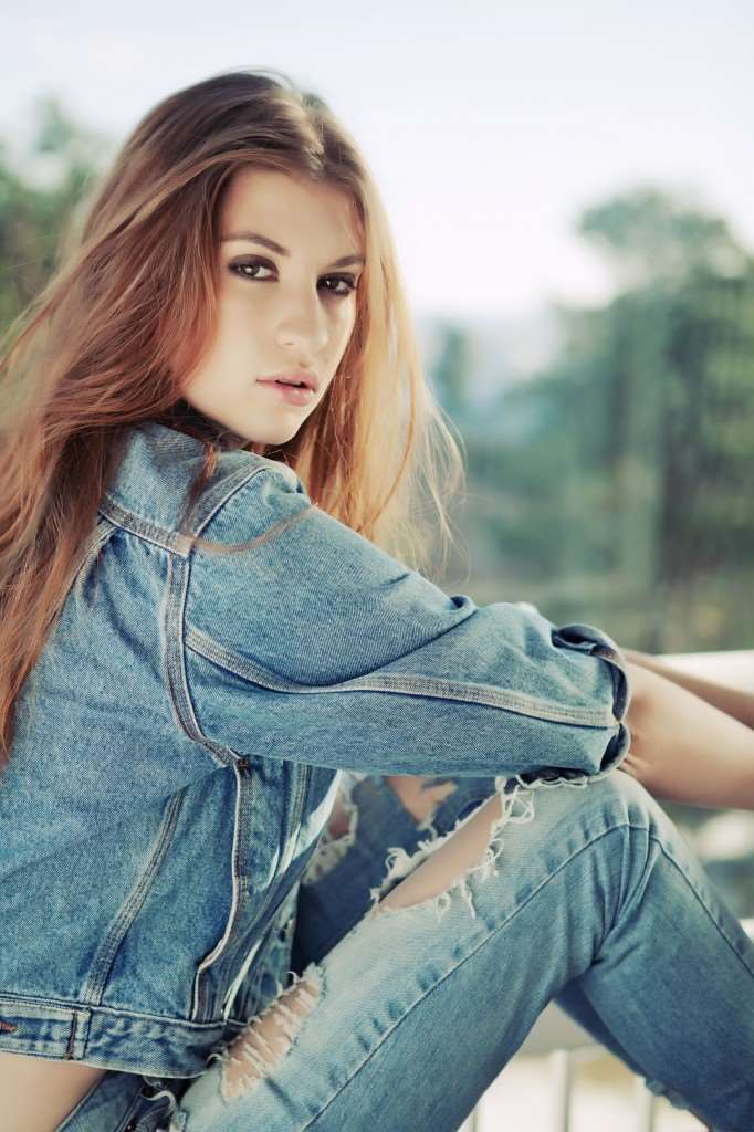 fashion denim photo shoot