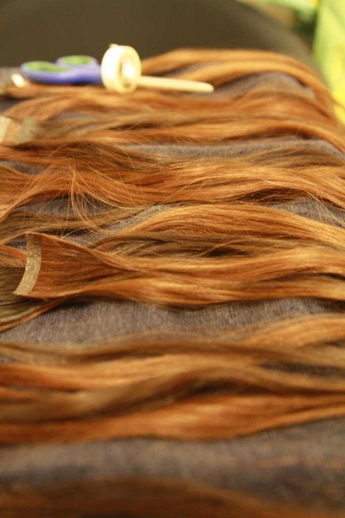 silicon weft hair
