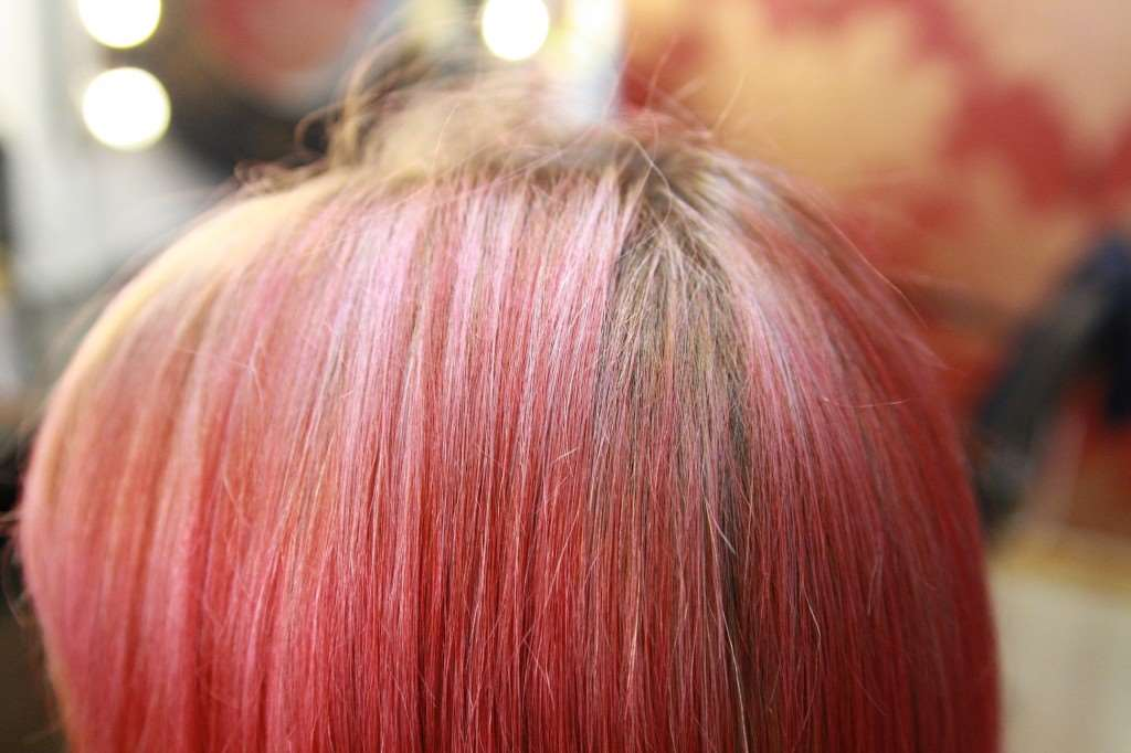 pink red hair