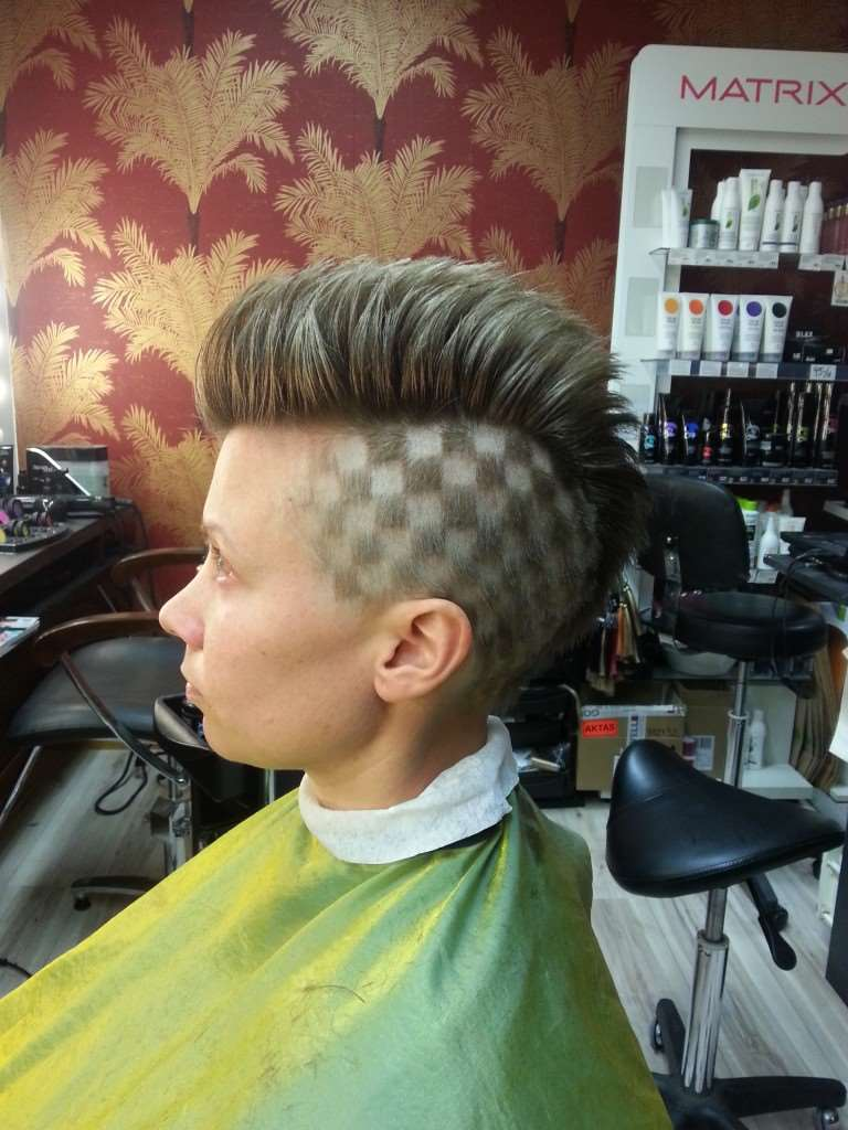 rutigt hår