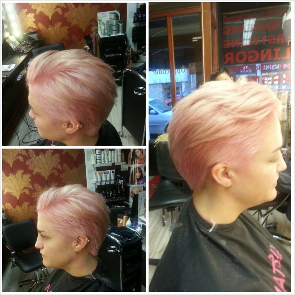 babyrosa hår