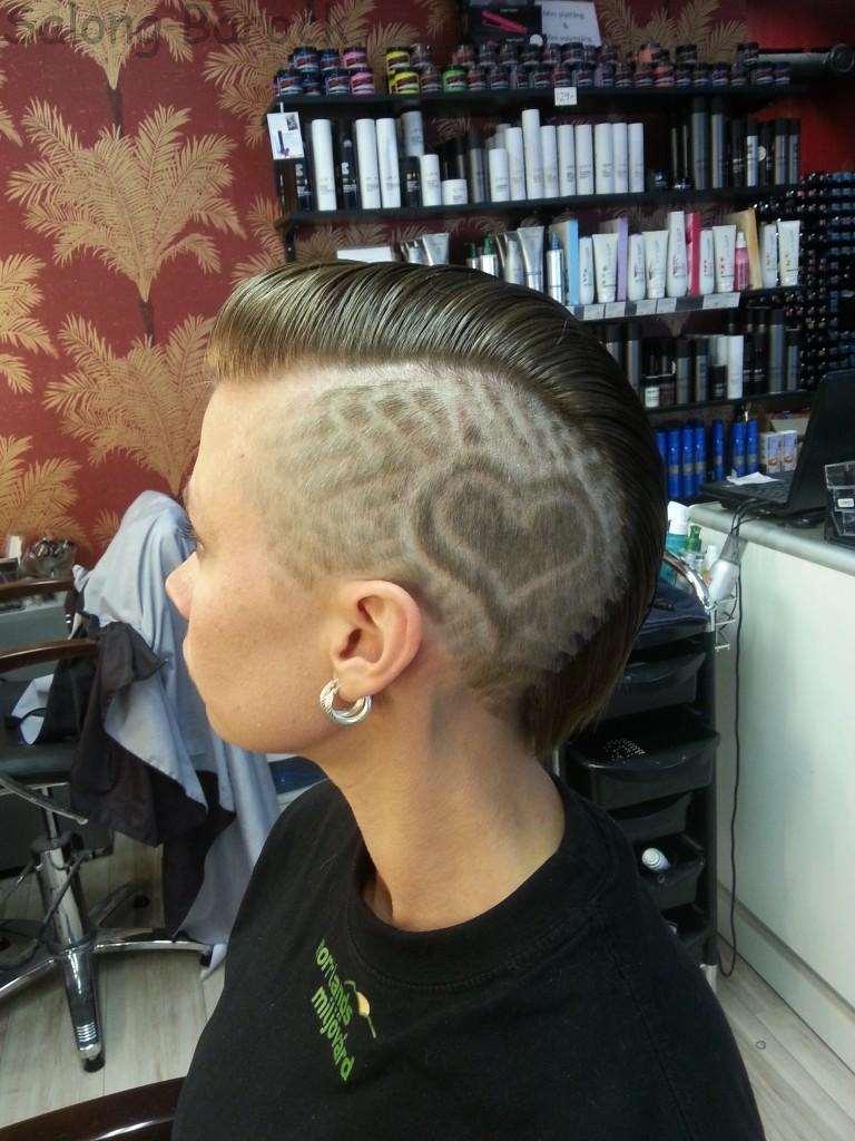 hair tattoo heart